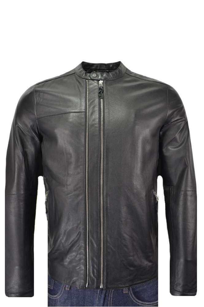 Pretty Green Addison Leather Jacket Clothing From