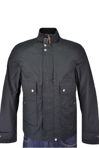 Pretty Green Garrat Waxed Jacket Black