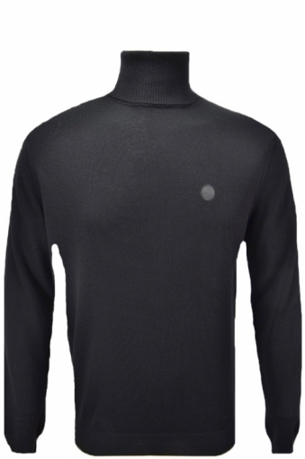 Pretty Green Harley Roll Neck Black
