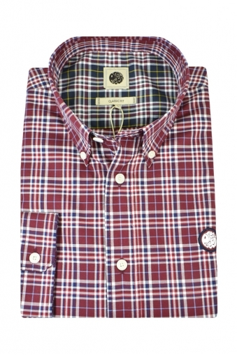 Pretty Green Instow Classic Fit Long Sleeve Shirt