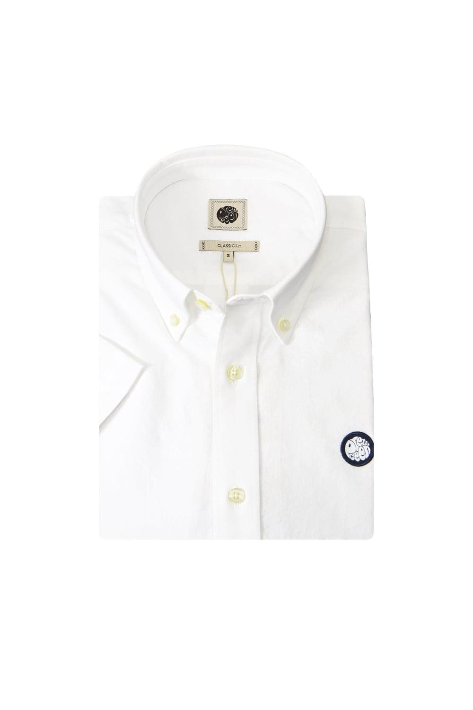 30e9f3912ed7 Pretty Green Short Sleeve Oldbury Oxford Shirt White - Clothing from ...