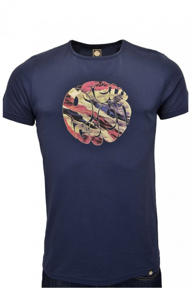 697b7eaab Pretty Green Union Jack T Shirt Navy - Clothing from Michael Stewart ...