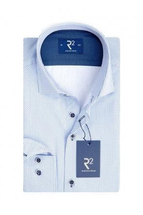 53bdd4d5b R2 Cut Away Collar Long Sleeve Shirt Pin dot Soft Blue