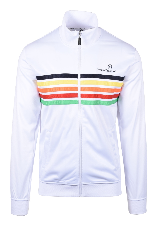 Sergio Tacchini Multi Stripe Varena Track Top Jacket White